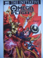 Omega Flight #1 Dynamic Forces Signed Michael Avon Oeming DF COA #3 of 100 Marvel comic book